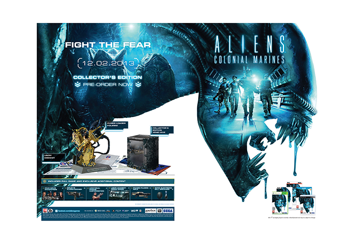 aliens sega packaging design