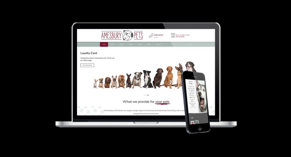 amesbury pets web design