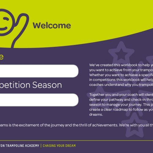 kingston trampoline academy graphic design