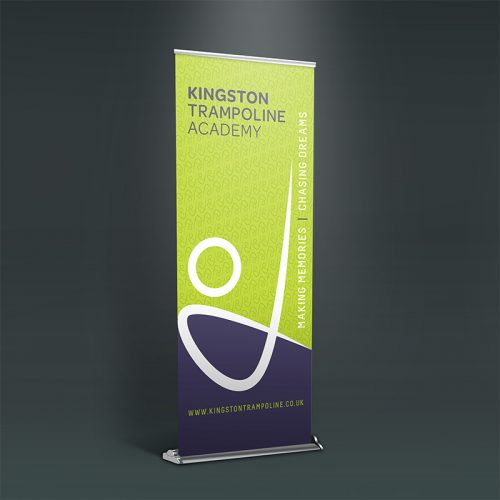 kingston trampoline academy graphic design