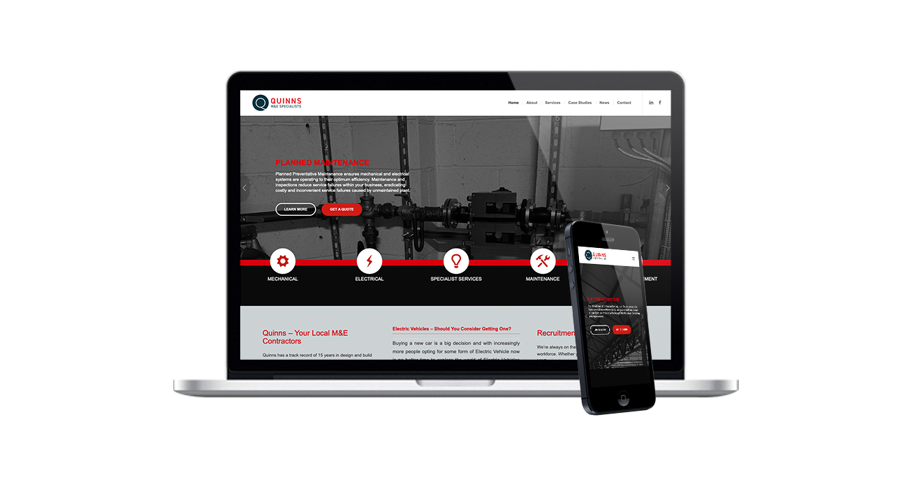 quinns salisbury web design