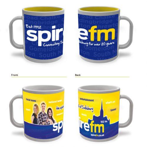 spire fm salisbury graphic design