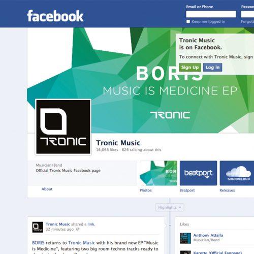 tronic techno label web design