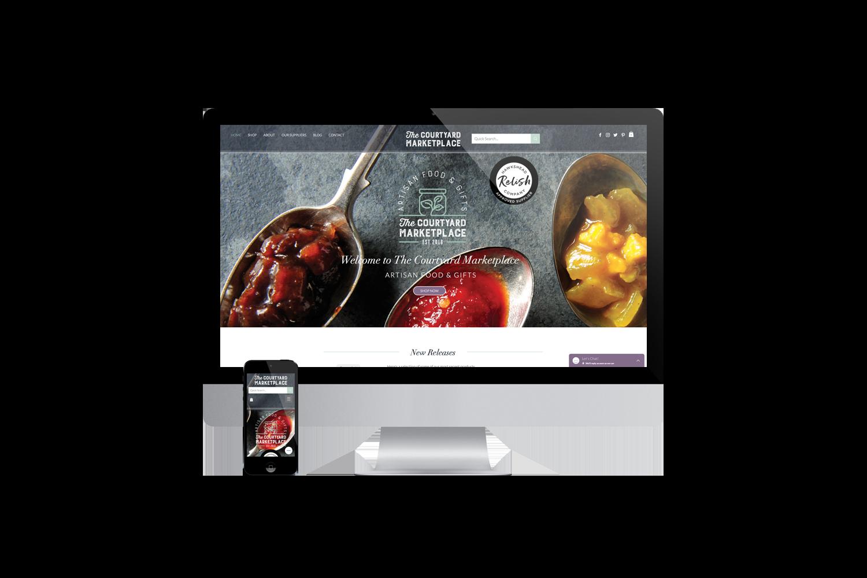 Courtyard Marketplace web design
